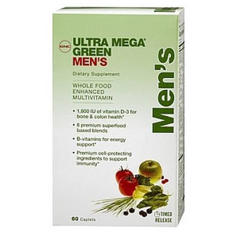 GNC Витамины и минералы для мужчин Ultra Mega Green Mens (120 cap)