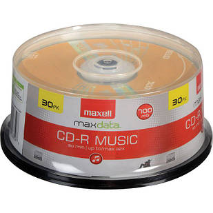Maxell CD-R 80 32x Music Gold for Audio Recording,  уп. 30 шт