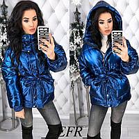Женская зимняя куртка с напылением синтепон 200