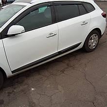 Дефлекторы окон (ветровики)  Renault Megane III 2008 -> 5D Combi Grandtour универсал 4шт (Hic)