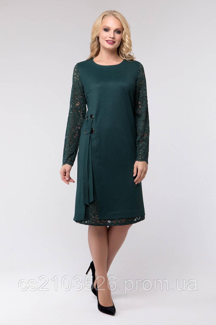 Женское демисезонное платье на каждый день Эбби(50-60)бутылка