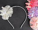 Обручи для волос с коронами и фатином цветные 12 шт/уп, фото 2