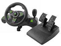 Игровой руль с вибрациями, коробка передач + педали PC PS3 USB. Польша. Na.