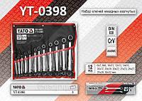 Набор ключей накидных изогнутых 12шт, 6-32мм, YATO YT-0398