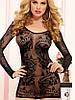 Сексуальное белье мини платье с рукавами