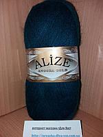 Зимняя пряжа (20% шерсть, 80% акрил; 100г/550м) Alize Angora Gold 17 (петроль)