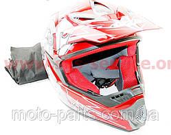Шлем кроссовый FXW HF-117 S (красный)