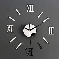 Часы наклейки на стену Серебристые  0368964, фото 1