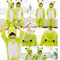 Пижама Кигуруми детская Лягушка купить в Украине цельная пижама детская  зеленая лягушка ( Kigurumi frog ) 7b6915e17197b
