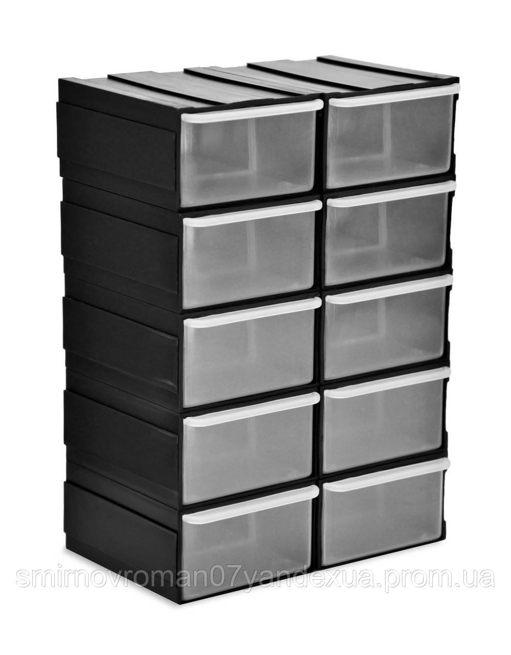 Емкости выдвижные  (комплект 10шт) / 52-603, 190х105х225 мм