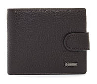 Стильний чоловічий класичний міцний гаманець гаманець FUERDANNI art. 4355 темно коричневий