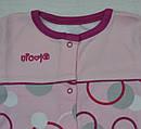 Комбинезон хлопковый Кружочки розовый (Nicol, Польша), фото 2