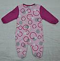 Комбинезон хлопковый Кружочки розовый (Nicol, Польша), фото 3