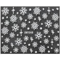KATTi Наклейки клейкие малые Белые Новый Год SMY 049 снежинки 1шт