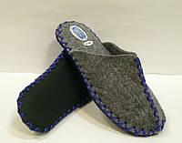 Тапочки из войлока комнатные женские с синим шнурком, фото 1