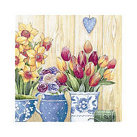 Салфетки декупажные Jet Papier GmbH Панно цветы2 33x33 см 17.5 г/м2 20 шт ti-flair 4103070026645