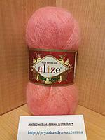 Мохеровая пряжа (62%- кид мохер, 38%- полиамид, 50 г/ 500 м) Alize Kid Royal 619