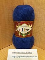 Мохеровая пряжа (62%- кид мохер, 38%- полиамид, 50 г/ 500 м) Alize Kid Royal 141