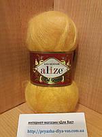 Мохеровая пряжа (62%- кид мохер, 38%- полиамид, 50 г/ 500 м) Alize Kid Royal 216