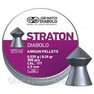 Пули пневм JSB Diabolo Straton 4,5 мм 0,535 гр. (500 шт/уп) (код 186-52852)