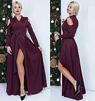 Вечернее платье с имитацией запаха