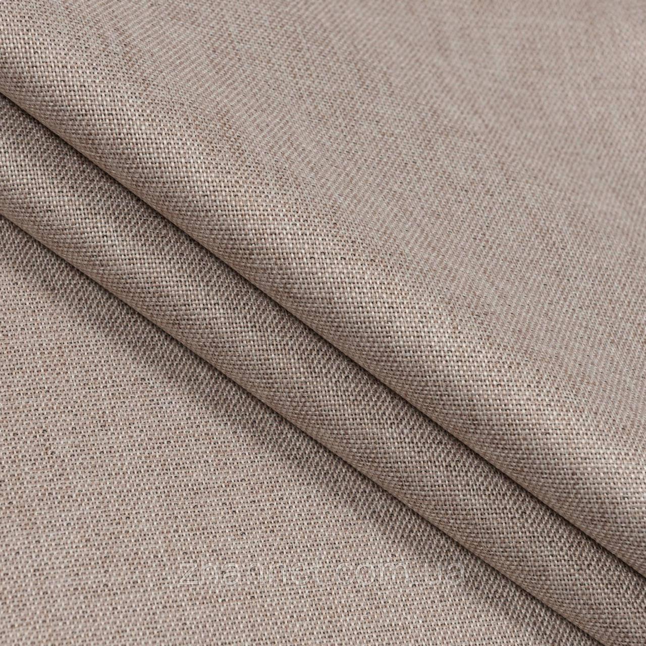 Ткань Блекаут рогожка бежевый 280 см (616351)