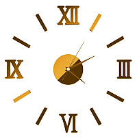 Часы настенные стикеры Золотистые  0857470, фото 1
