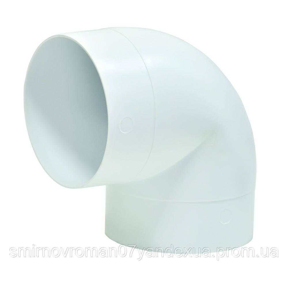 Колено 90°, для круглых каналов, d=100мм / 60-430, D 100 мм (10ККП)