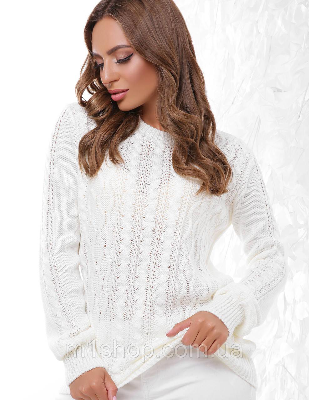 Женский шерстяной вязаный свитер (158 mrs)