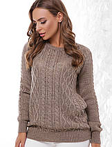 Женский шерстяной вязаный свитер (158 mrs), фото 3