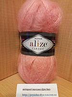 Мохеровая пряжа (100г/200м, 25%-мохер, 24%-шерсть, 51%-акрил) Alize Mohair Classic 145(лосось)