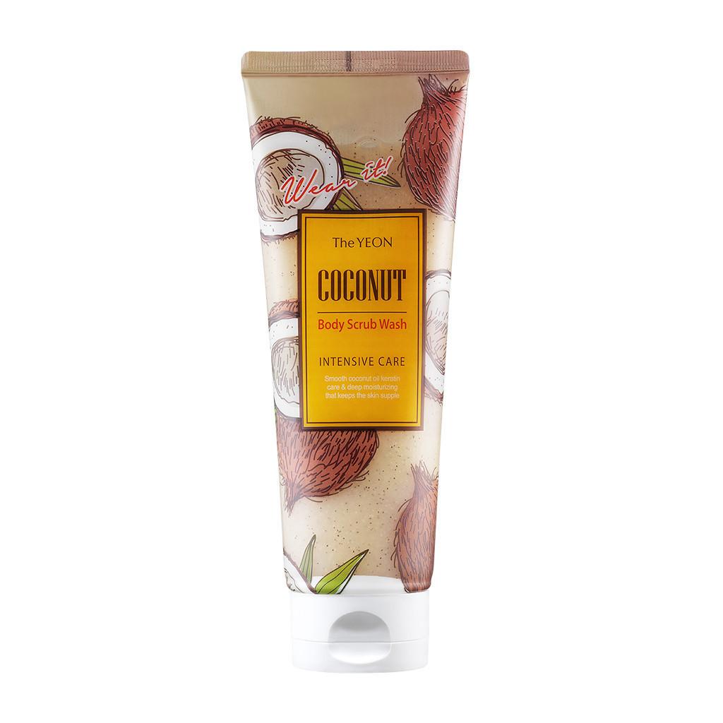 Скраб для тела с кокосовым маслом и грецким орехом The Yeon Coconut Body Scrub Wash Intensive Care 250 мл
