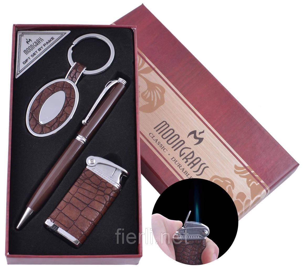 Подарочный набор брелок, ручка, зажигалка (Острое пламя)