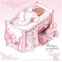 """Кроватка для куклы DeCuevas серии """"Даниэла"""" 63 см 54421"""