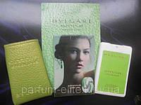 Женский мини-парфюм в кожаном чехле Bvlgari Omnia Green Jade 20ml