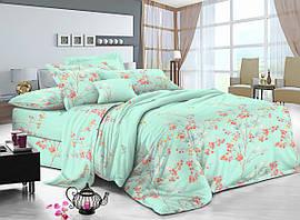 Семейный комплект постельного белья сатин (10303) TM КРИСПОЛ Украина
