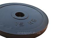 Диск стальной обрезиненный 15 кг - 51 мм