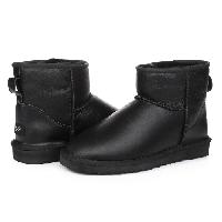 Женские угги UGG Mini leather black original, фото 1