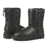 Женские угги UGG Classic Zip leather black original