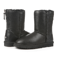 Женские угги UGG Classic Zip leather black original, фото 1