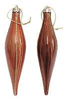Сосулька 15 см 2шт/уп, т. коричневая/св. коричневая