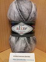 Мохеровая пряжа (100г/200м, 25%-мохер, 24%-шерсть, 51%-акрил) Alize Mohair Classic NEW 5560