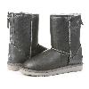 Женские угги UGG Classic Zip leather Grey original