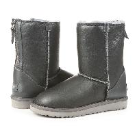 Женские угги UGG Classic Zip leather Grey original, фото 1