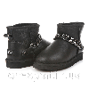 Женские угги UGG Mini Chain leather black original