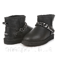 Женские угги UGG Mini Chain leather black original, фото 1