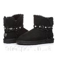 Женские угги UGG Mini Strap black original, фото 1