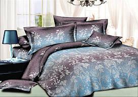 Двуспальный комплект постельного белья евро 200*220 сатин (10593) TM КРИСПОЛ Украина
