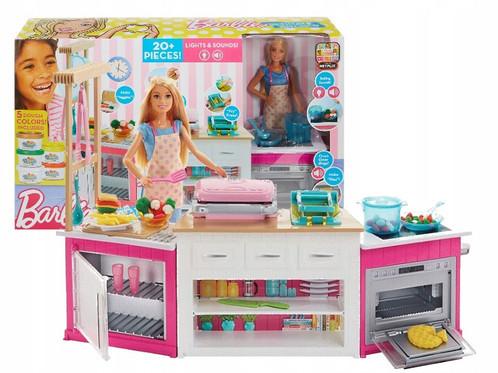 "Набор кукла Барби и кухня ""Готовим вместе"", свет, звук, тесто Плейдо, Barbie Ultimate Kitchen, Mattel, из США"