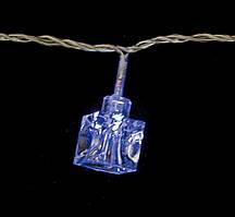 Электрогирлянда светодиодная ''Льдинка'', 30 ламп, голубая, 3м., прозр. провод, 8 реж. миг.